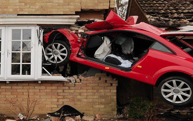 Impact Damage To Wall- Property Restoration Services, Edinburgh